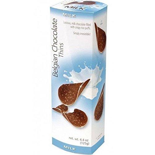 Belgian chocolate thins 4.4oz, pack of 1 (milk) ()