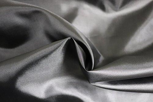 (Black China Silk/Habutai Lining Fabric-Polyester 58-60'' W (Black, 1)