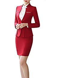 Amazon Com Reds Skirt Suits Suit Sets Clothing Shoes Jewelry