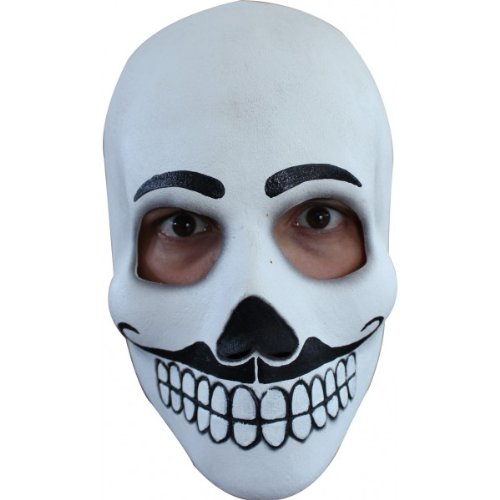 Men's Full Latex El Catrin Day of the Dead Skull Face Mask