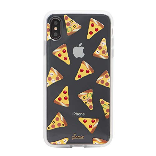 Sonix, Slice Up Your Life, Rhinestone Pizza Cell Phone Case [Military Drop Test Certified] Protective Clear Case for Apple iPhone Xs Max