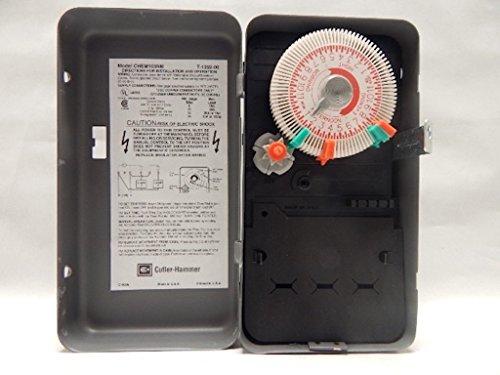 CUTLER HAMMER CHEM103NM DPST NEMA 1 ENCLOSURE WITH PLASTIC INTERIOR TIME CLOCK 24 HOUR 40 AMP 120 VOLT