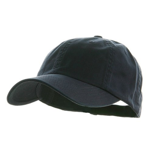 Low Profile Dyed Cotton Twill Cap - Navy W39S55D