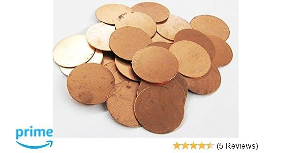 12 Round Copper 1//2 Inch Metal Stamping Blank 24 Gauge Circle Blank