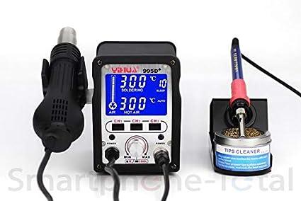 YIHUA 995d + regulable compacta Soldadura Soldador Soldadura de Aire Caliente Digital Mostrar, nachjustierung +