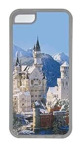 Customized Case Landscapes Neuschwanstein castle Transparent for Apple iPhone 5C