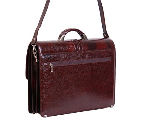 Herren echten weichen Lederaktentasche Männer Business Arbeit Umhängetasche A713 Braun