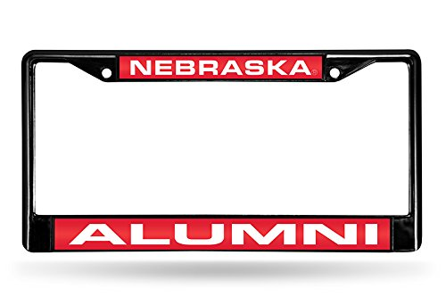 Rico Industries NCAA Nebraska Cornhuskers Laser Cut Inlaid Standard Chrome License Plate ()