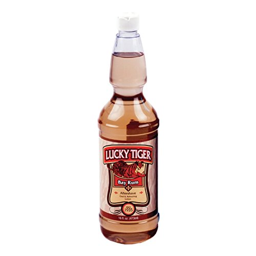 Lucky Tiger Bay Rum After Shave, 16 Ounce