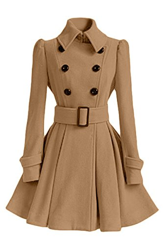 Lapel Belt XL Woollen DYF color Apricot size FYM Buckle Big Long Big sleeve COAT Coat Pendulum ZxBYwBfq0