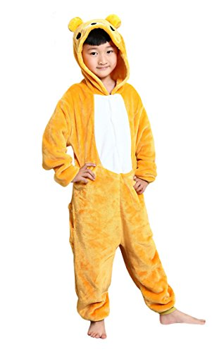 Tonwhar Cute Bear Kids Cartoon Pajamas Cosplay Onesie for Children for $<!--$15.99-->