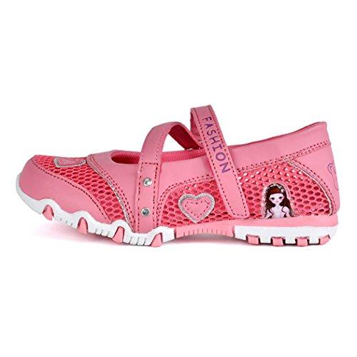 Kinder Mädchen Sandalen Geschlossen Mesh Schuhe Rutschfest Atmungsaktiv Prinzessin Flach Kinderschuhe Frühling Sommer Rot
