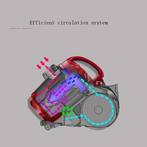 BABY-BAOBEI Compact Et Puissant Cyclonique Sans Sac Cylindre Aspirateur (Rouge)