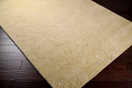 Candice Olson by Surya Sculpture SCU-7512 Transitional Hand Loomed 100% Wool Camel 8' x 11' Area Rug (Surya 8' Round Sculpture)
