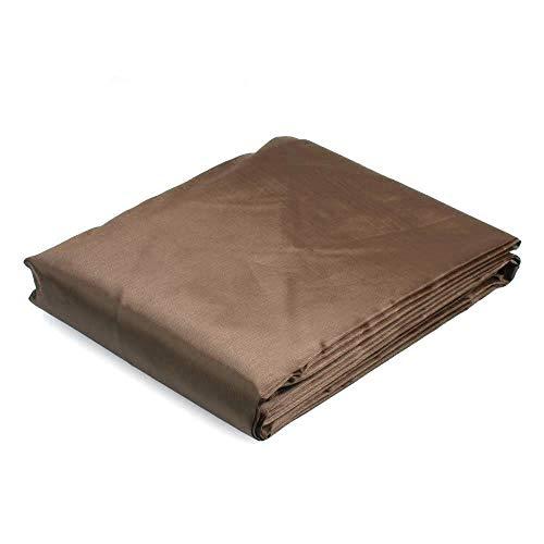 (Anya Nana 9 ' ft Foot PVC Rip Resistant Pool Table Billiard Cover W Elastic Corners Coffee)