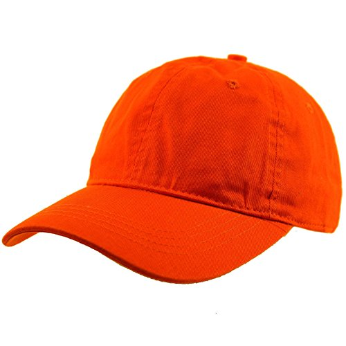 - Everyday Unisex Cotton Dad Hat Plain Blank Baseball Adjustable Ball Cap Orange