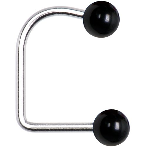 14 Gauge Black Acrylic Ball Lippy Loop Labret Body Candy 28785