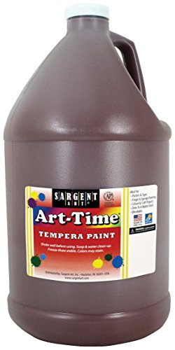 Sargent Art 17-6688 Gallon Brown Art-Time Tempera Paint -  SAR176688