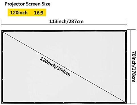 OMZER - Proyector portátil de 120 Pulgadas, Pantalla 16: 9 HD ...