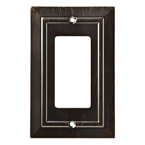 - Franklin Brass W35219-VBR-C Classic Architecture Single Decorator Wall Plate/Switch Plate/Cover, Venetian Bronze