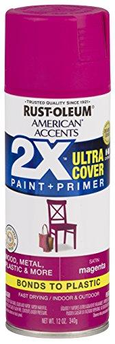 Rust-Oleum 327949 American Accents Spray Paint, 12 oz, Satin Magenta