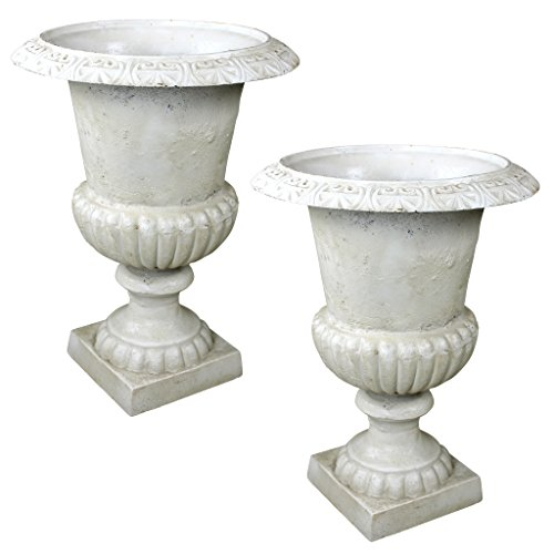 Design Toscano Chateau Elaine Authentic Large Iron Urns (Set of 2) -