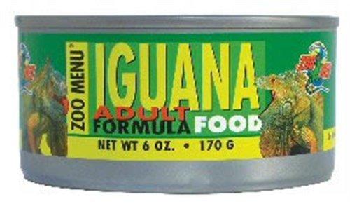 Green Iguana Food - Zoo Med Iguana Adult Formula Wet Food, 6-Ounce
