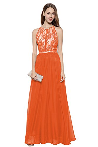 orange long dresses wedding - 2