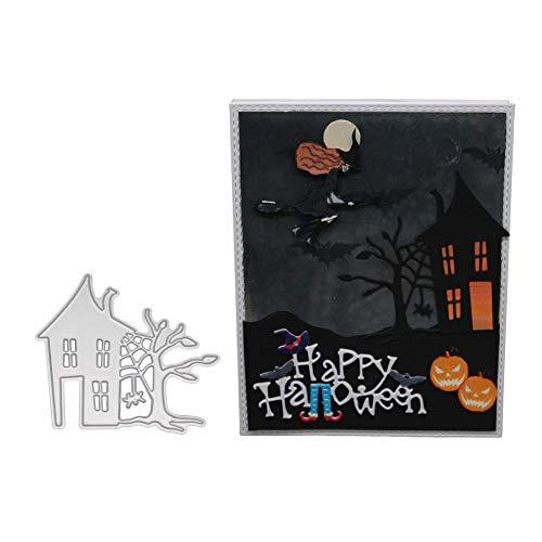 Lavany Cutting Dies Halloween Skull Stencils,DIY Paper Scrapbooking Die-Cuts for Card Making Clearence,Flower Metal Cutting Dies Stencil -