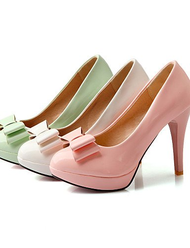 GGX/ Damen-High Heels-Büro / Lässig-Lackleder-Stöckelabsatz-Absätze / Rundeschuh-Grün / Rosa / Weiß pink-us6.5-7 / eu37 / uk4.5-5 / cn37