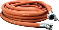 """Milton Industries 1638 Industrial Jackhammer 50' Rubber Air Hose with ¾"""" Universal Coupler – Made in USA Red"""