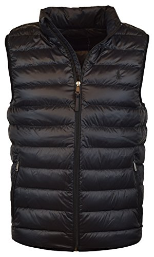 Jacket Ralph Lauren Black Label - Polo Ralph Lauren Men's Down Filled Packable Puffer Vest - XL - Polo Black