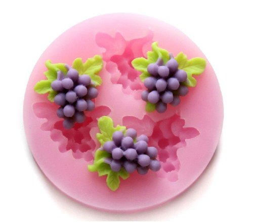 (Luxbon Grape Figure Candy/Ice/Cake/Chocolate/Sugar Craft Fondant Mold/Tray Silicone Decorating Tools Randomly Color )