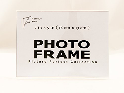 7x5 Photo Frame Clear Acrylic Picture Frame Horizontal Sign holder 7 x 5 (12) Clear Acrylic Tabletop