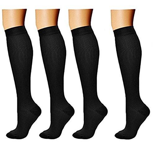 Compressione 4 nbsp;paia E Gravidanza Socks Di Viaggi calze compressione amp; Sport Medica A Aereo Donna Compression compressione per corsa Uomo thrombosestruempfe Calze Calze Medi 4rIrdZqx