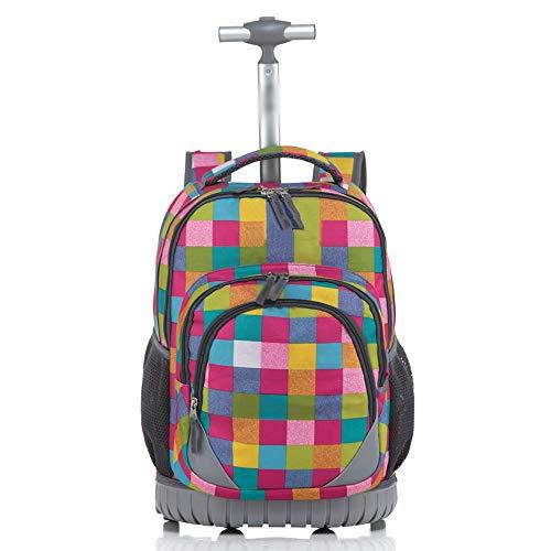 YEXIN Trolley para niños Escolares Bolso Escolar Hombres y Mujeres reducen el Peso del Trolley Bolso Bandolera con...
