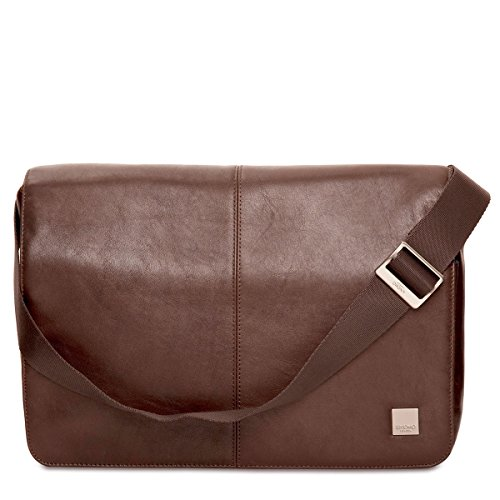 Knomo Luggage Men's Kinsale Laptop Messenger Bag, Brown, One Size by Knomo