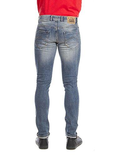 Uomo Wash Blu Look Lavaggio stone 717 Carrera Medio Per Denim Jeans OWZ1vE