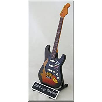 STEVIE RAY VAUGHAN Miniature Guitar SRV Custom W Name Tag