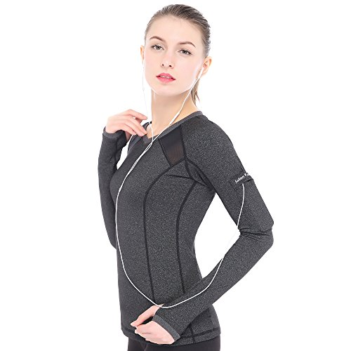 Women's Yoga Gym Running Workout Sports Quick Drying Tee Long Sleeve Shirt For Solitary Walker