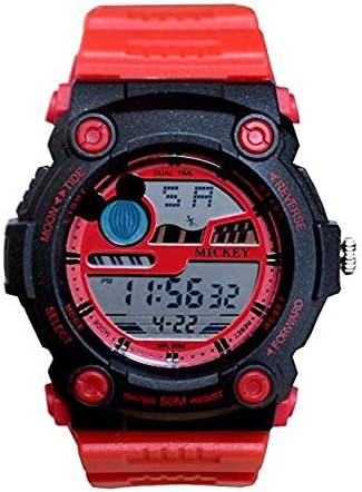 【親子で人気】WATCH Disney レッド × レッド ミッキー デジタル 時計 ラバーベルト ディズニー 腕時計 50M防水 ミッキー [並行輸入品]