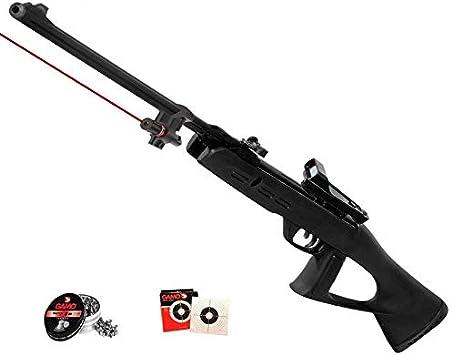 Gamo Táctical - Pack Escopeta/carabina de Aire comprimido (Muelle) Delta Fox GT de perdigones o balines + láser y Visor holográfico <3,5J