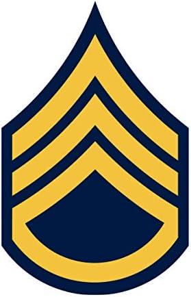 U.S.Army Master Sergeant Rank Insignia Decal Sticker