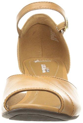 CLARKS Womens Brielle dacy Wedge Sandal Light Tan Leather 0FobQuTqY