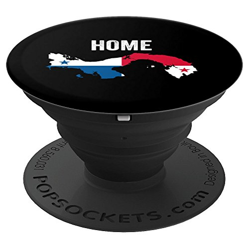 Panama Home Panamanian Flag Map Home Country Pride - PopSockets Grip and Stand for Phones and Tablets (A Map Of The Country Of Panama)