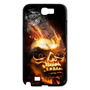 Samsung Galaxy Note 2 N7100 Fire skulls Phone Back Case Personalized Art Print Design Hard Shell Protection HG054040