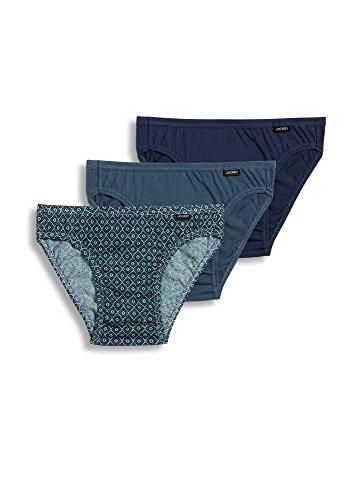 Jockey Men's Underwear Elance Bikini - 3 Pack, best navy/diamond geo/blue smoke, M