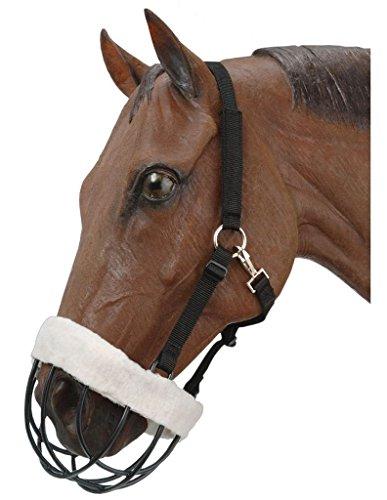 Cribbing Muzzle (Tough-1 Freedom Muzzle w/ Nylon Headstall - Horse)