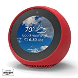 """""""Made for Amazon"""" Mission Cables Skin for Echo Spot - Candy Red"""