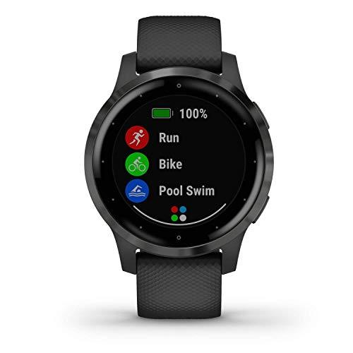 Garmin vívoactive 4S - Reloj Inteligente con GPS y Funciones de Control de la Salud Durante Todo el día, Color Negro…